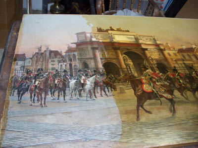 French painting during restoration.